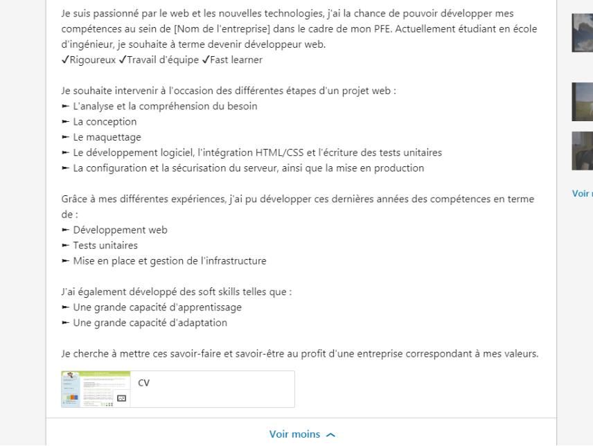 ing u00e9nieurs  d u00e9couvrez notre exemple de profil linkedin
