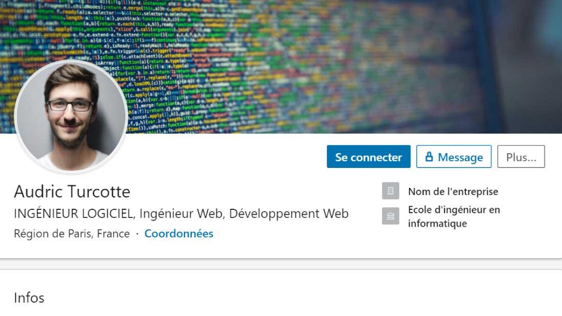 exemple profil linkedin